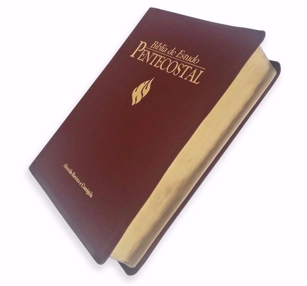 Bíblia de Estudo Pentecostal Grande Vinho  - Livraria Betel