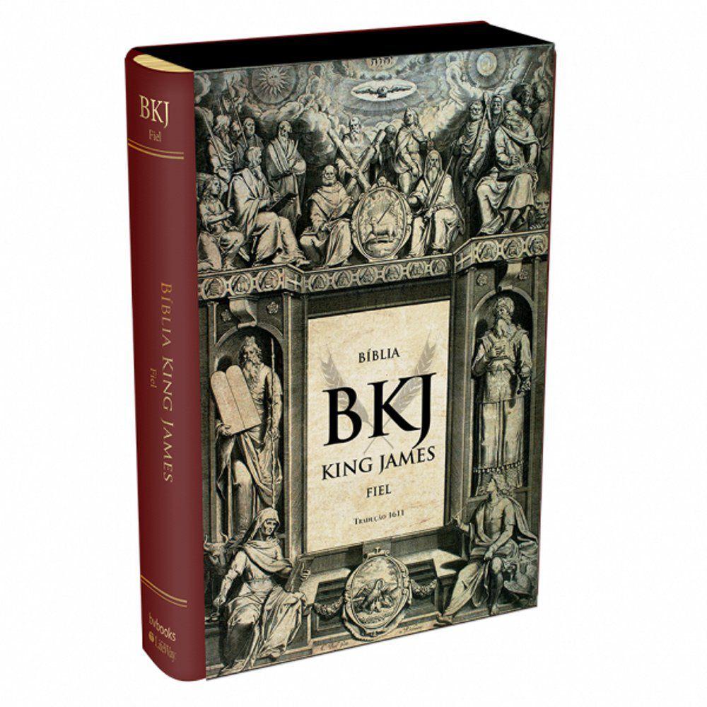 Bíblia King James Fiel Tradução 1611 (Vinho)  - Livraria Betel