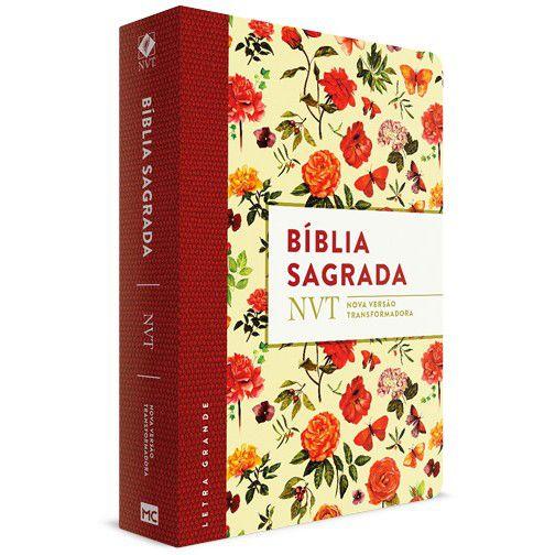 Bíblia Sagrada NVT Letra Grande (Aquarela)  - Livraria Betel