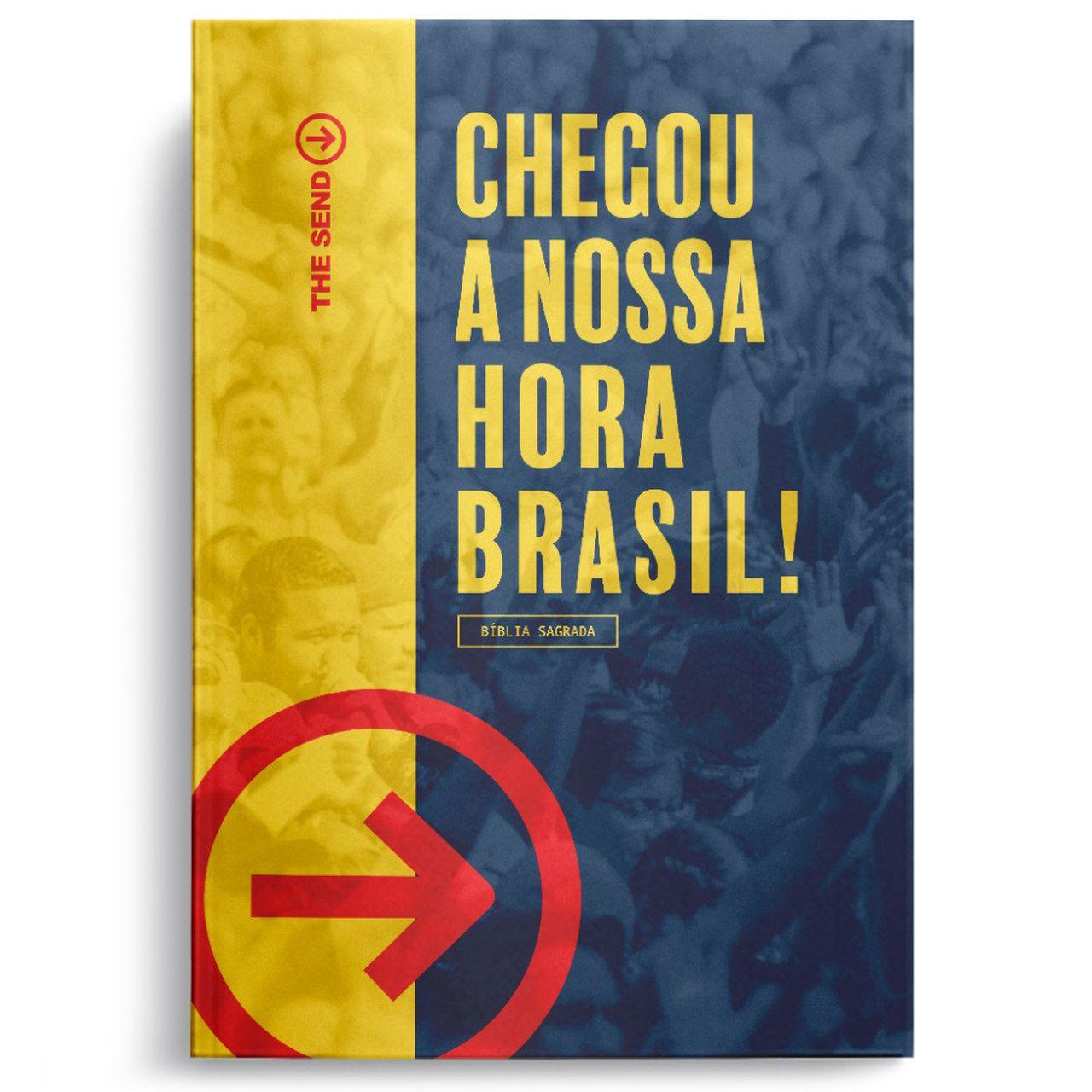 """Bíblia SBB The Send """"Chegou a Nossa Hora Brasil!""""  - Livraria Betel"""