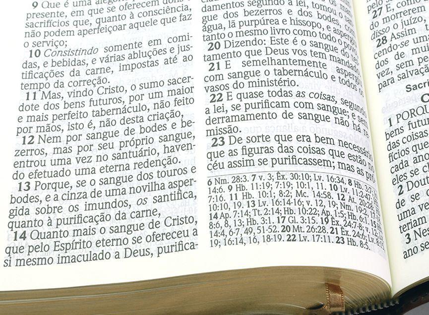 Bíblia SBTB ACF Hiper Legível Letra Gigante Luxo Couro (Chocolate)  - Livraria Betel