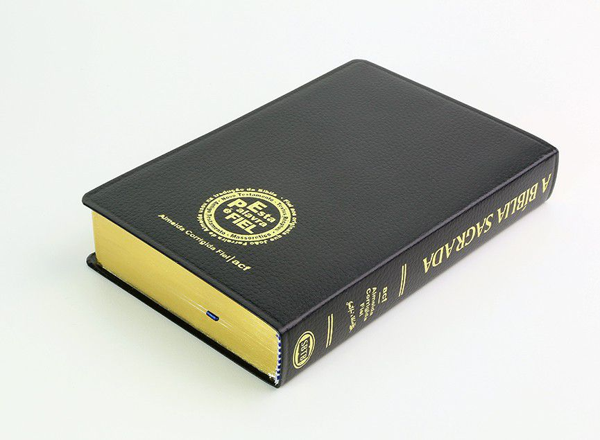 Bíblia SBTB ACF Letra Gigante Luxo Couro (Preta)  - Livraria Betel