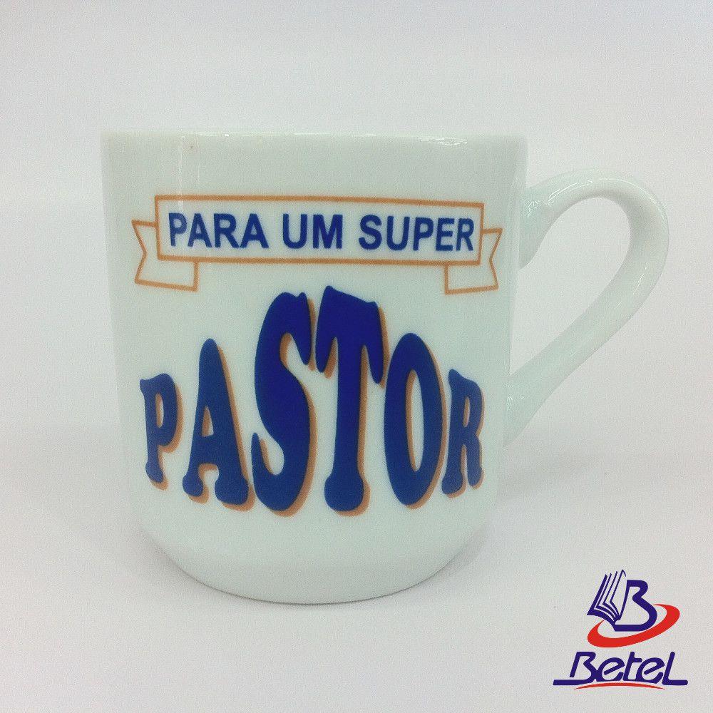 """Caneca Porcelana Média """"Pastor"""" (Branca)  - Livraria Betel"""
