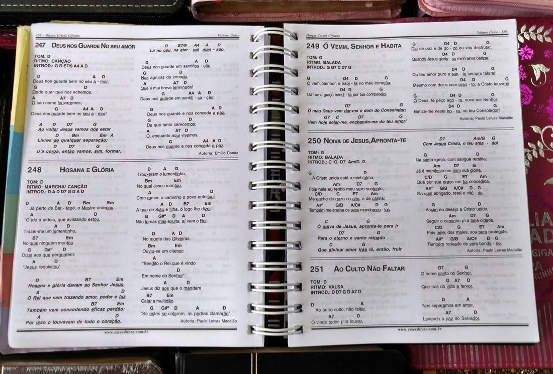 Hinário Harpa Cristã Cifrada Série Especial Box  - Livraria Betel
