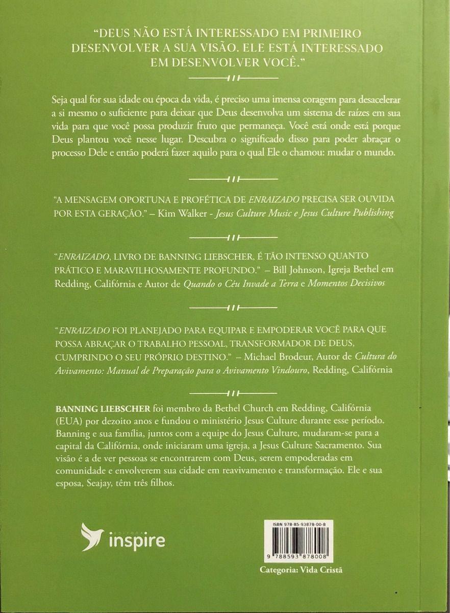 Livro Enraizado - Banning Liebscher  - Livraria Betel