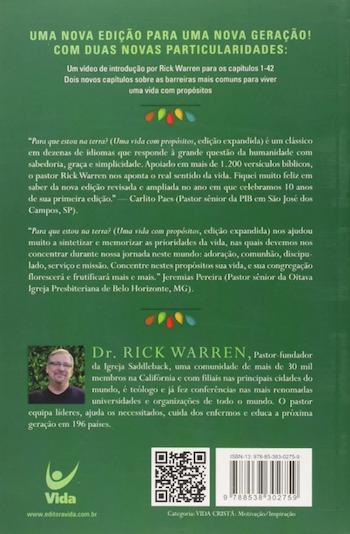 Livro Uma Vida Com Propósitos - Rick Warren  - Livraria Betel