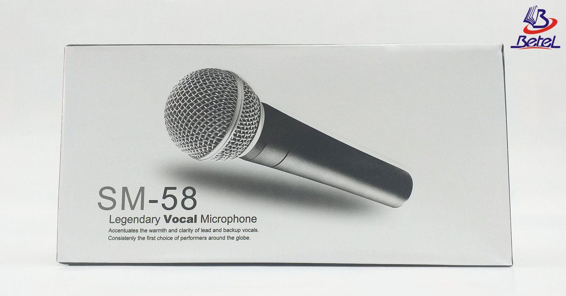 Microfone Profissional SM-58 com fio  - Livraria Betel