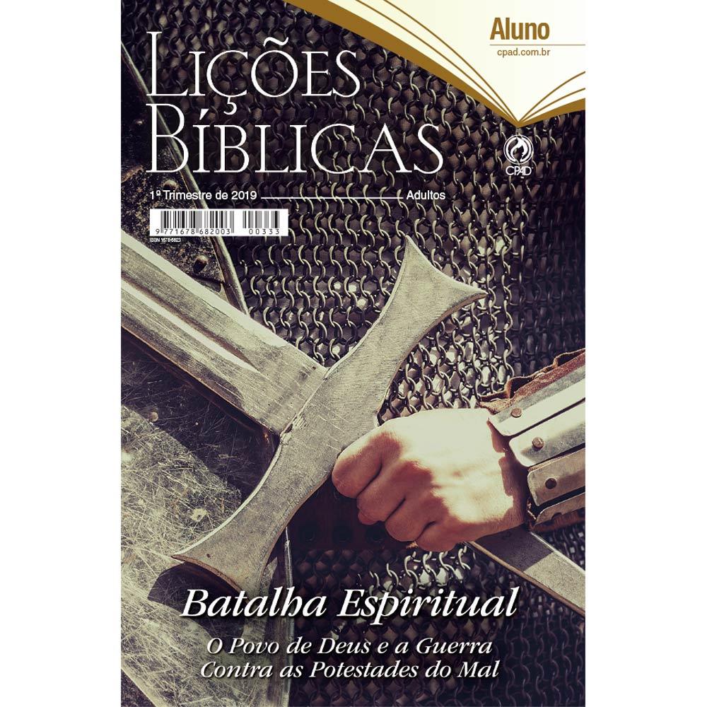Revista CPAD Lições Bíblicas EBD ALUNO 1° TRIM. 2019  - Livraria Betel