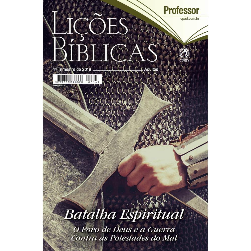 Revista CPAD Lições Bíblicas EBD PROF. 1° TRIM. 2019  - Livraria Betel