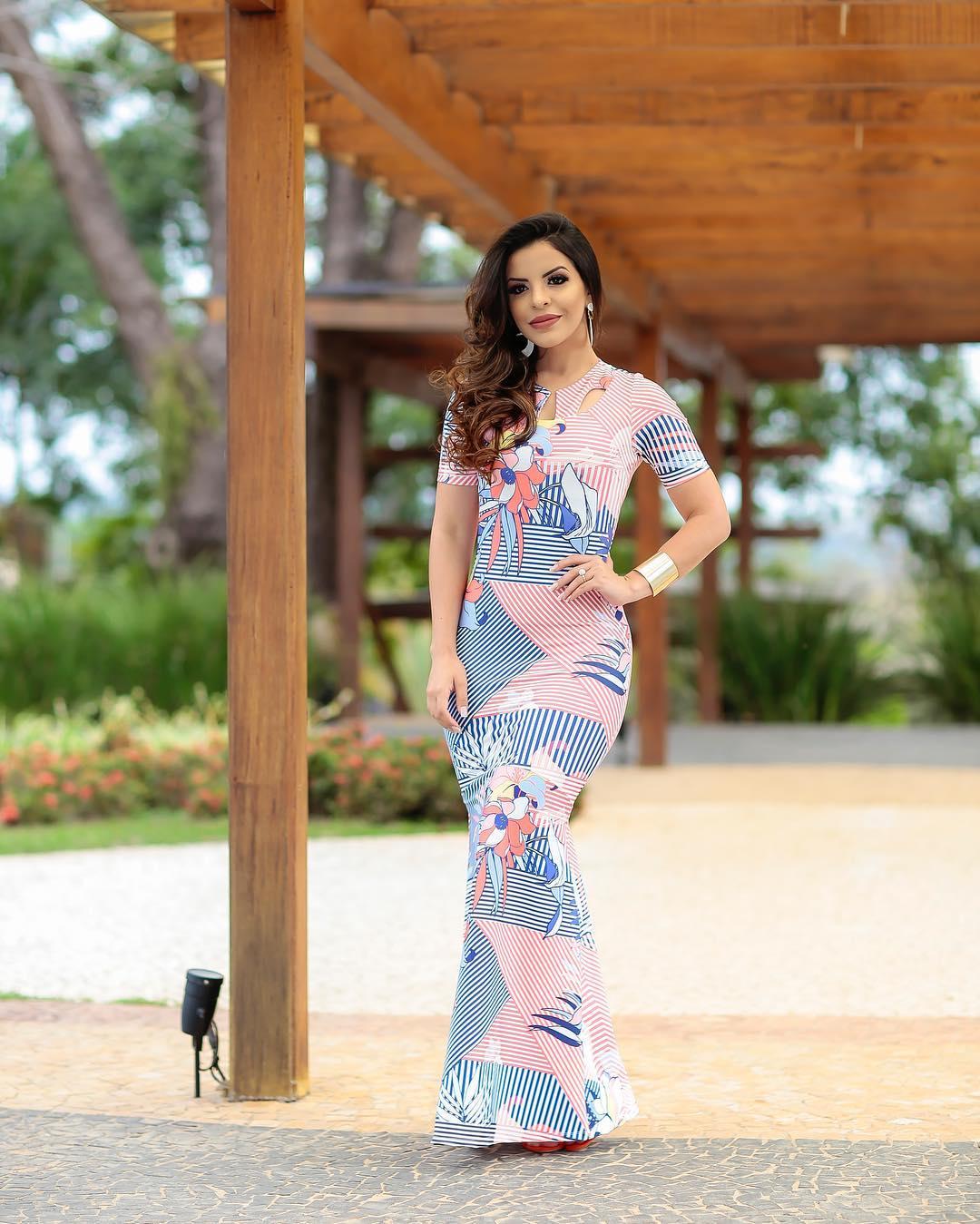 Vestido Angélica em Neoprene Premium  - Livraria Betel