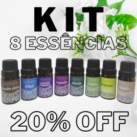 kit 8 essências verde vivo