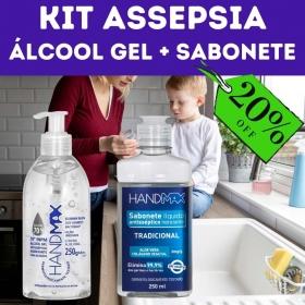 Kit Assepsia - Álcool Gel + Sabonete Líquido Antisséptico tradicional