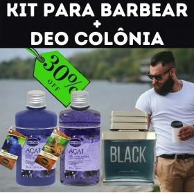 Kit barbear + Deo colônia
