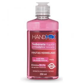 Sabonete Líquido Hidratante Antisséptico Frutas Vermelhas Hand Max 250ml