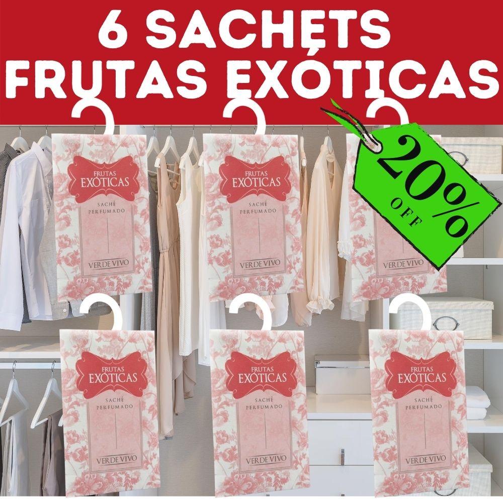 6 sachet frutas exóticas