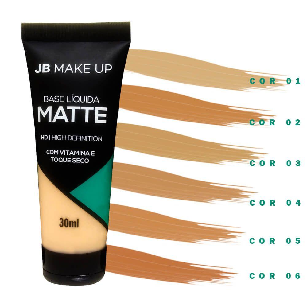Base Líquida Matte JB Make up (06 opções de cores)