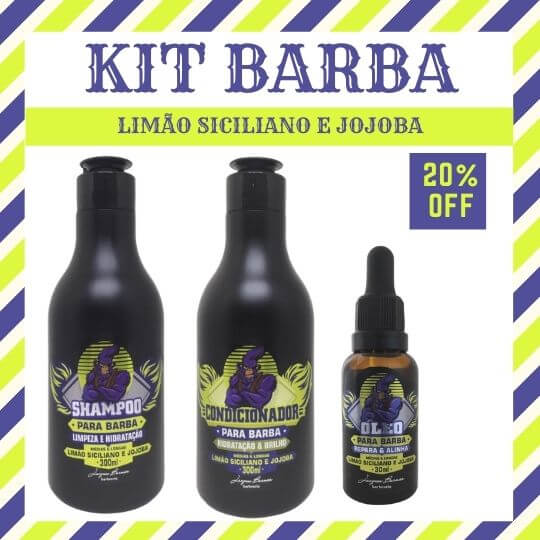 kit barba limão siciliano e jojoba jacques burnier