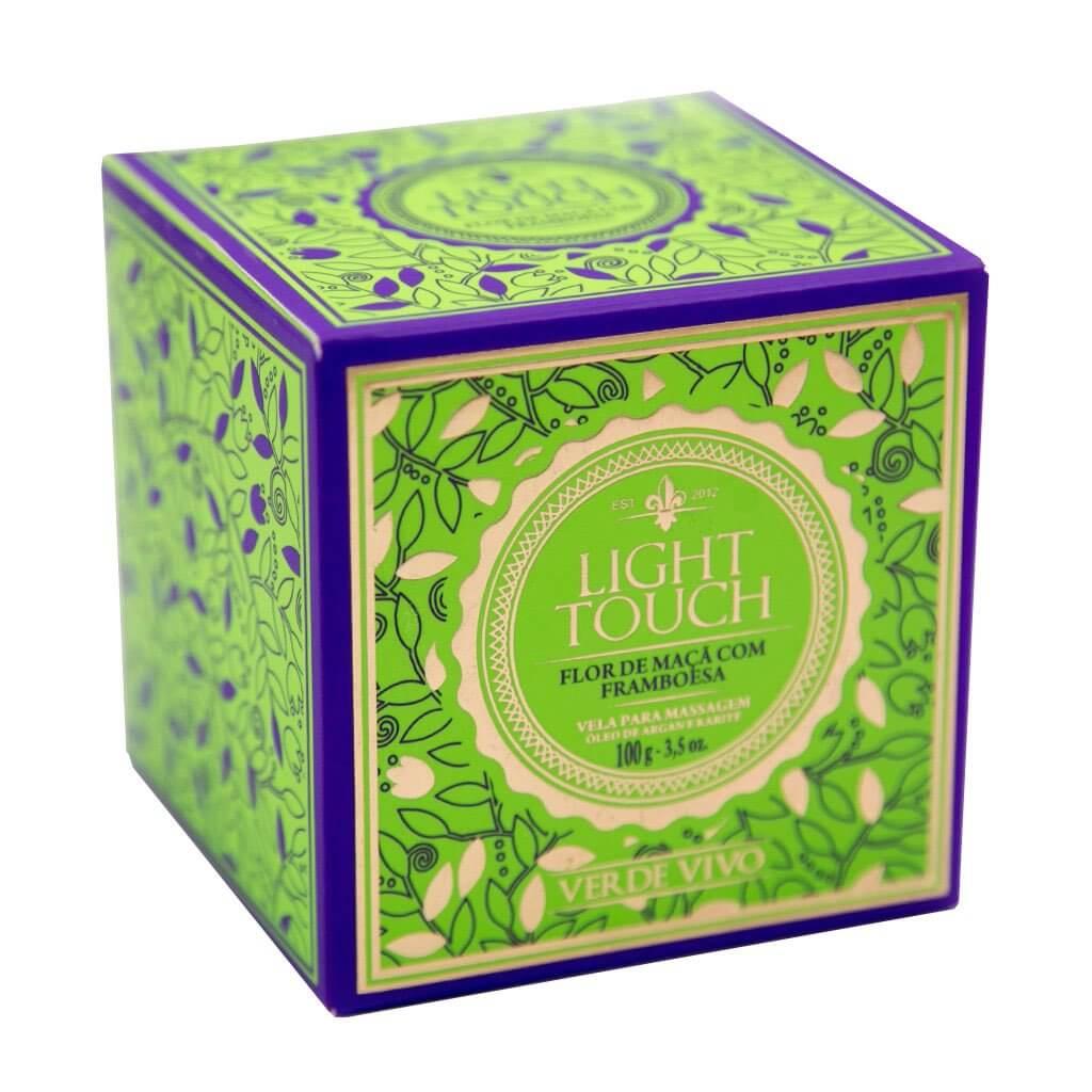 Light Touch Vela para Massagem Flor de Maçã com Framboesa Verde Vivo