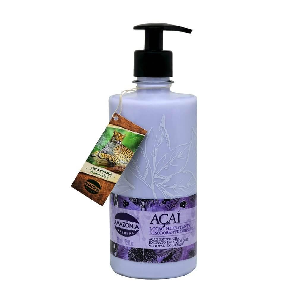 Loção Hidratante Desodorante Corporal Açaí Amazônia Natural 500ml
