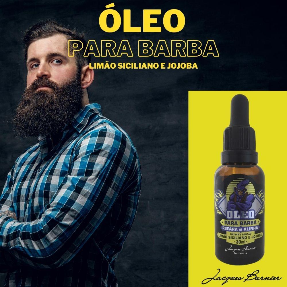 Óleo para barba Limão Siciliano e Jojoba Jacques Burnier 30ml