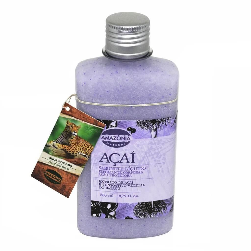 Sabonete Líquido Esfoliante Corporal Açaí Amazônia Natural 250ml