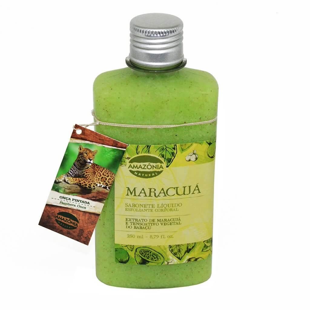 Sabonete Líquido Esfoliante Corporal Maracujá Amazônia Natural 250ml