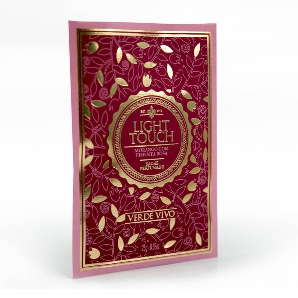 Sachê perfumado Light Touch Morango com Pimenta Rosa