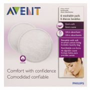 Absorventes Pads Laváveis C/6 Philips Avent