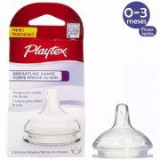 Bico Para Mamadeira Breastlike Shape 0-3M Fluxo Lento C/2 Playtex