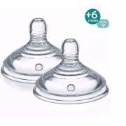 Bico Para Mamadeira Closer Nature +6m Corte Y C/2 Tommee Tippee