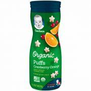 Biscoitinho Snack Orgânico Puffs Cranberry Orange 42g Gerber