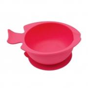 Bowl Silicone Com Ventosa Rosa Buba