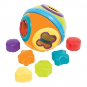 Brinquedo Bola Formas de Encaixe +6 Meses Buba