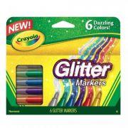 Canetinha Hidrográfica Com Glitter 6cores Crayola