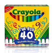 Canetinha Lavável Ponta Grossa 40Cores Crayola