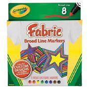 Canetinha Para Tecido 8Cores Crayola