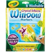 Canetinha Para VidroCrystal Effects 8 Cores Crayola