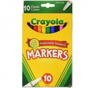 Canetinha Ponta Fina 10Cores Crayola