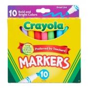 Canetinha Ponta Grossa 10Cores Bright Colors Crayola