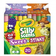 Canetinha Silly Scents Sweet&Stinky 20 Cores Crayola
