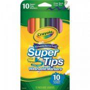 Canetinhas Laváveis Super Tips 10cores Crayola