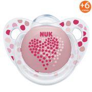 Chupeta Adore Trend +6Meses Coração Rosa Nuk