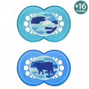 Chupeta Camuflagem +16 Meses Azul Animais C/2 Mam