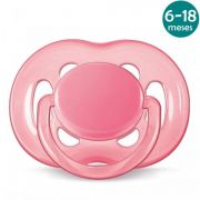 Chupeta Freeflow 6-18meses Rosa Philips Avent