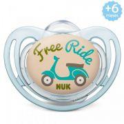 Chupeta Freestyle +6meses Azul Motocicleta Nuk