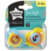 Chupeta Fun Style 0-6m c/2 Papagaio Tommee Tippee