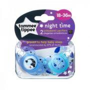 Chupeta Night Time 18-36 Meses Lua Azul Com 2 Tommee Tippee