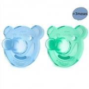 Chupeta Soothie Urso +3meses Azul c/2 Philips Avent