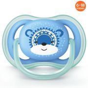 Chupeta Ultra Air Decorada 6-18m Azul Ursinho Philips Avent