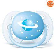 Chupeta Ultrasoft 6-18meses Espaço Azul Philips Avent